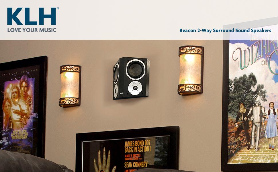 KLH Audio Beacon Surround Sound Speakers