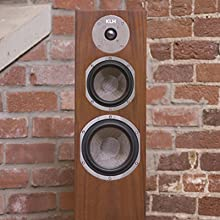 KLH Audio Quincy Tower Speaker with Faceplate off