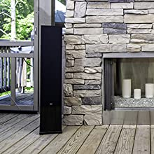 home audio speakers, home theater tower speakers, standing speakers, oak floor standing speakers