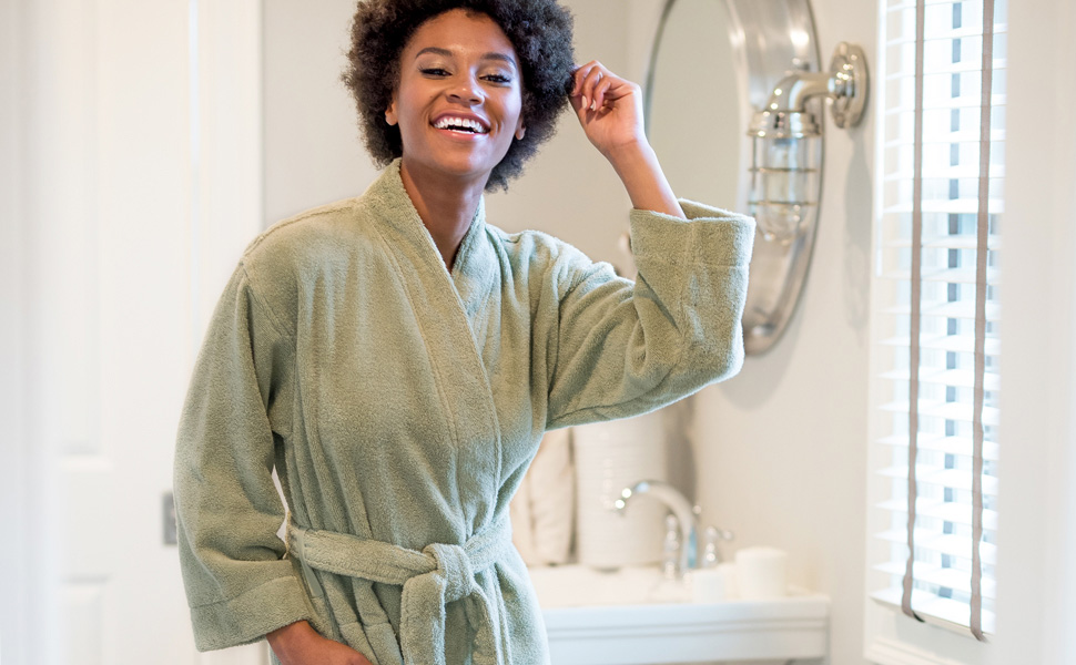 505c6ebde5 MORE INFORMATION ABOUT WOMEN S ORGANIC COTTON TERRY BATHROBE BY TEXERE.  organic cotton megeve texere womens robe knee length ...