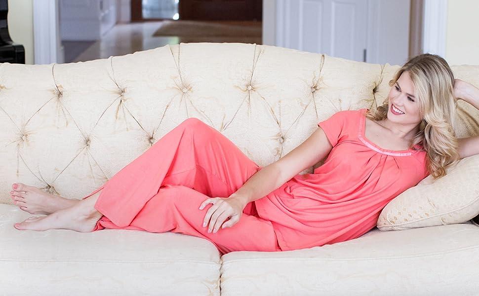 92e69e4fb224e Women s Pajamas in Bamboo Viscose (Bamboo Bliss) Cozy Sleepwear Set ...