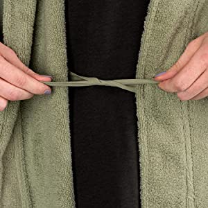 fc05597fa6 organic cotton megeve texere womens robe knee length green pink dark purple  black