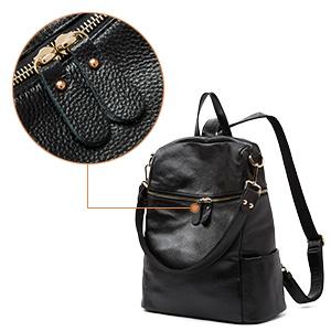 BOYATU Convertible Genuine Leather Backpack Purse for Women Fashion Travel  Bag 16ecefc947888