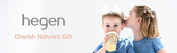 hegen baby bottle breastfeeding container teat newborn