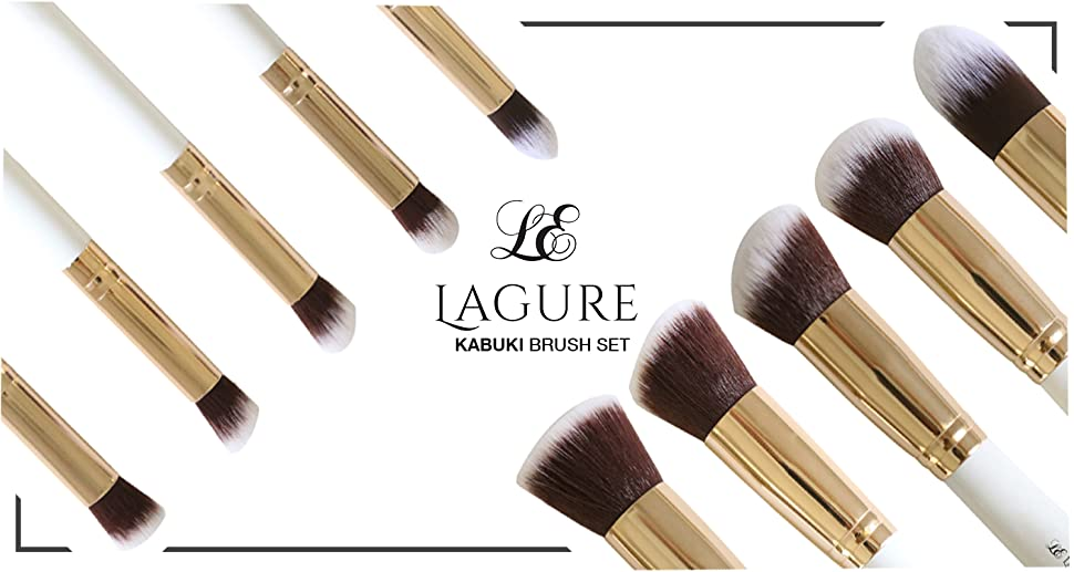 Amazon.com: Lagure Premium Kabuki Makeup Brush Set - The Perfect ...