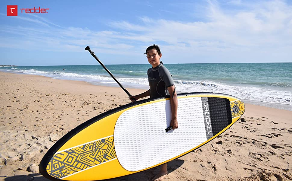 redder surfing board, inflatable stand up paddle board