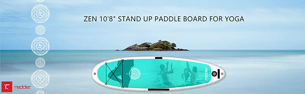 redder Inflatable Stand Up Paddle Board with Premium SUP Accessories & Carry Bag | Wide Stance, Bottom Fin for Paddling & Surfing | Leash, Paddle and ...