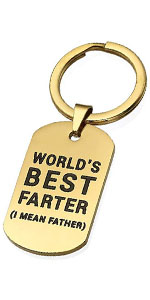 Father's Day Keychain World's Best Farter I Mean Father Funny Keychain