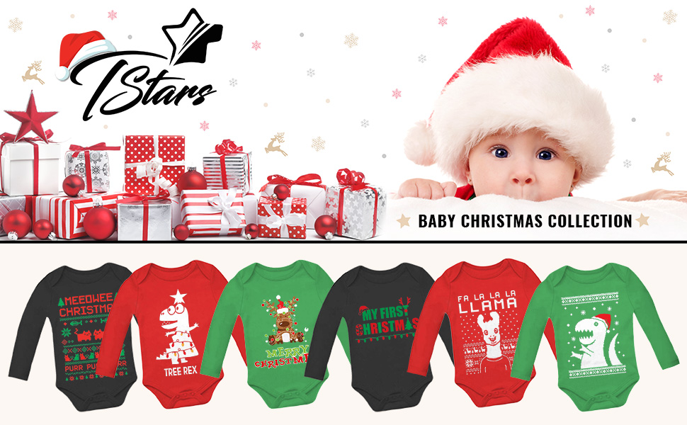 Christmas Bulldog with Santa Hat Organic Cotton Short Sleeve Baby Bodysuit Vest