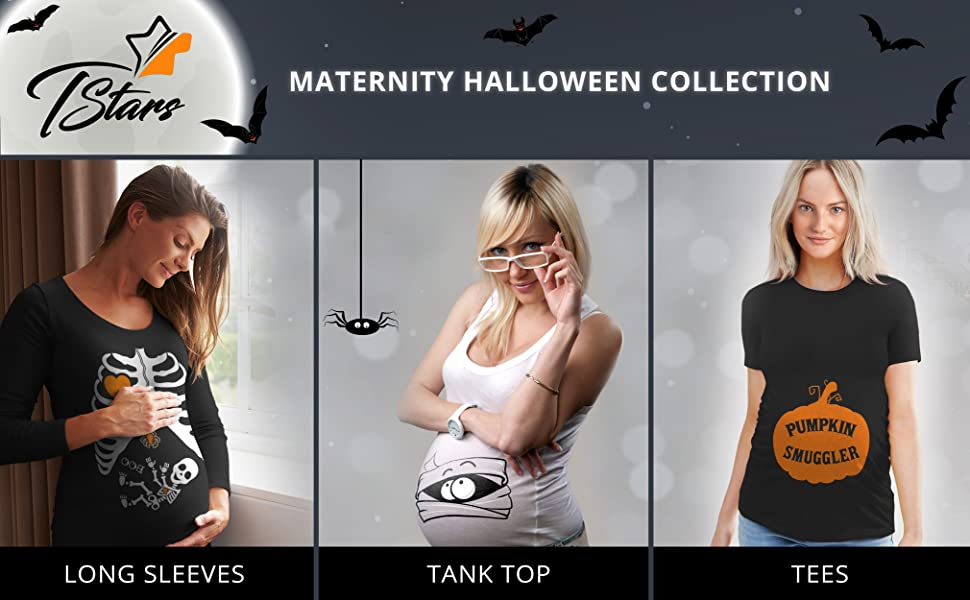 e56a26f1719bd Tstars Halloween maternity collection offers the coolest rib cage X-ray skeleton  baby boy / baby girl prints for moms to be, easy Halloween costumes for ...