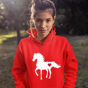 Horse red hodie