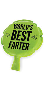 Funny World's Best Farter Fart Self-Inflating Whoopie Cushion