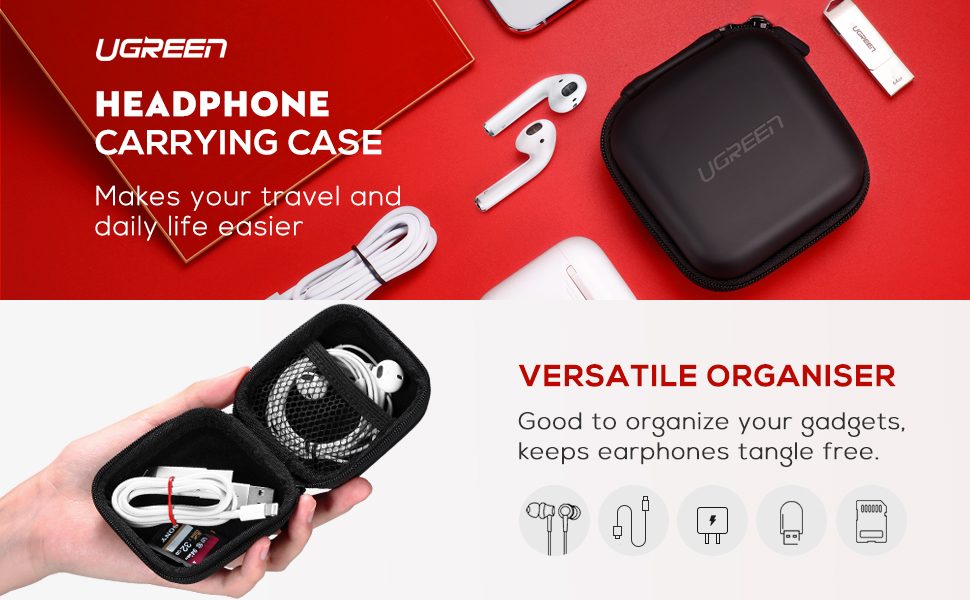 ugreen headphone carrying case
