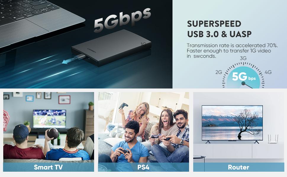 5gbps usb 3.0 sata hdd enclosure case