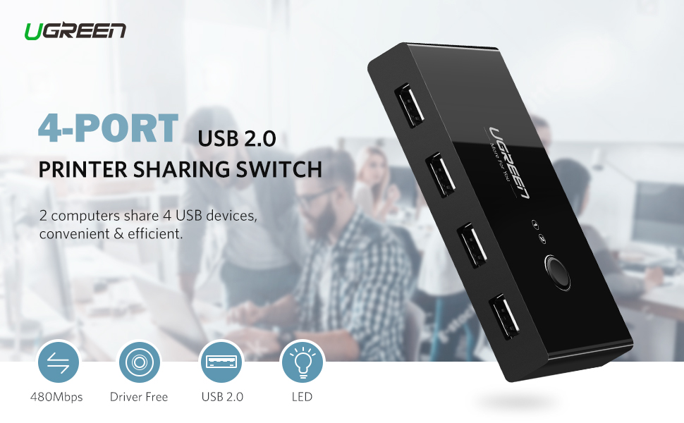 4 port usb 2.0 sharing switch selector