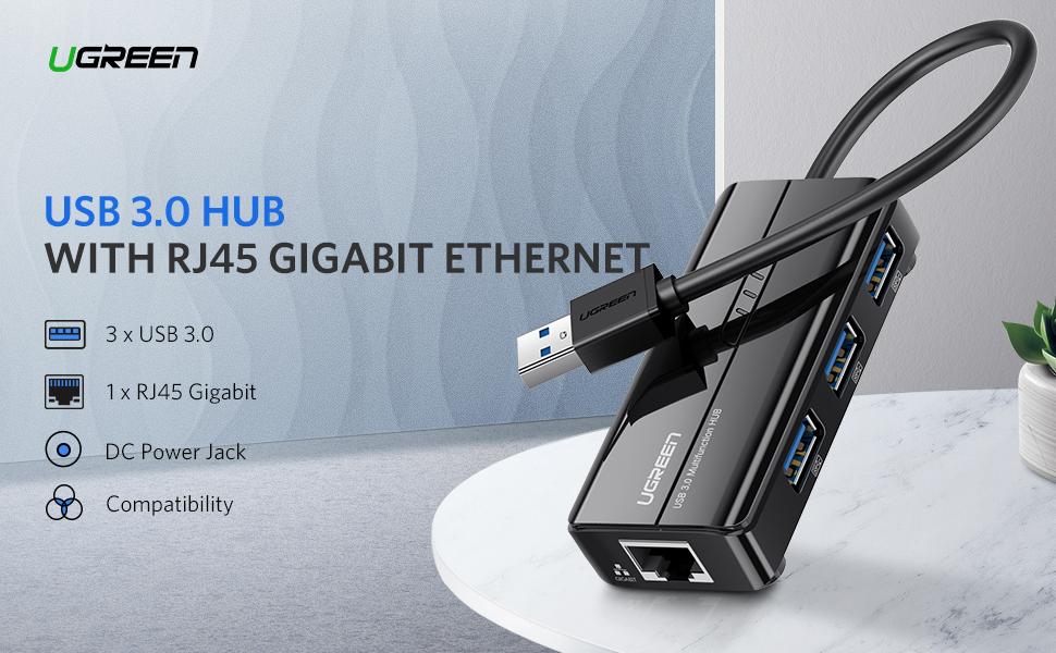 usb 3.0 ethernet adapter hub