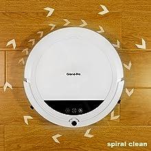 robot vacuum spiral clean