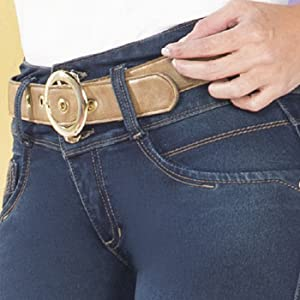 Pantalones colombianos levanta cola butt lifting jeans slimming with abdominal compression