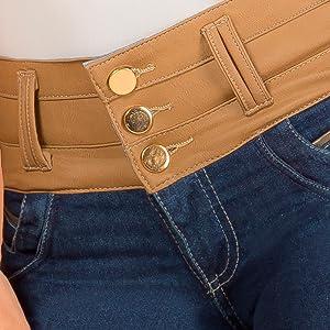 ARANZA Pantalones Colombianos Levanta Cola Butt Lifting Colombian Jeans Boot Cut