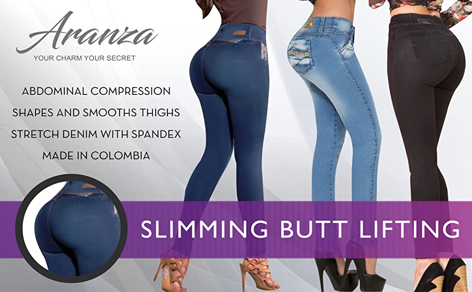 But Lifting Jeans But Lifter Jeans with tummy control Pantalones Colombianos Levanta Cola