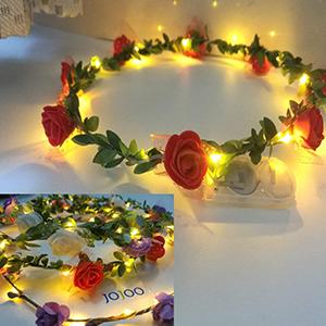 Colorful wreath headbands