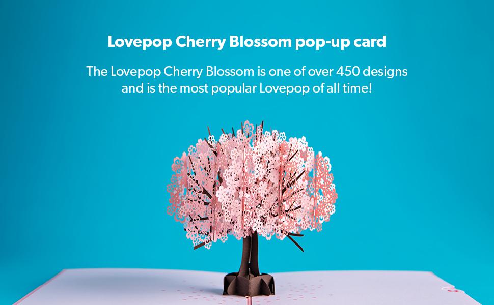 lovepop, lovepop card, cherry blossom card, cherry tree card, lovepop cherry blossom, cherry blossom