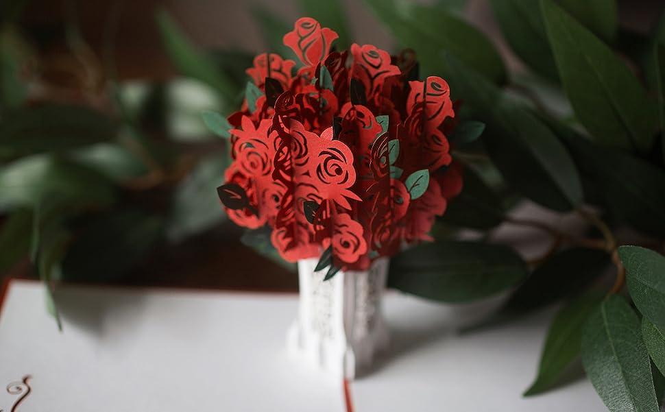 Amazon.com : Lovepop Rose Bouquet Pop Up Card, 3D Card, Flower Card ...