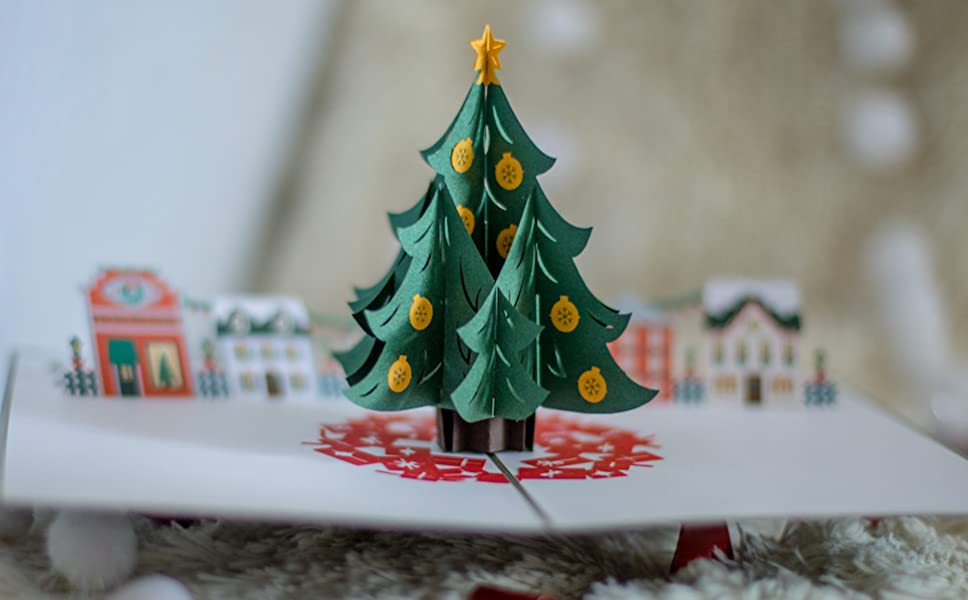 Amazon.com : Lovepop Christmas Tree Village Pop Up Christmas Card ...