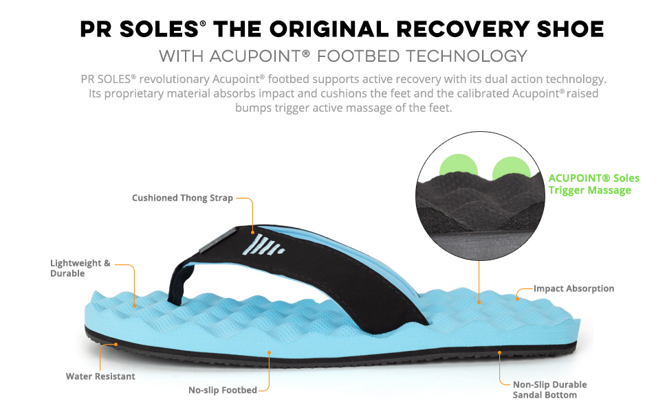 7f592cd6a04323 pr soles recovery flip flop sandals athletic athlete run runner running  massage acupoint acupressure
