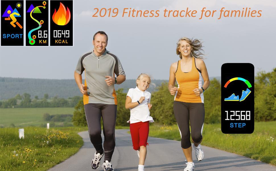 Fitness Tracker Activity Tracker Watch Smart Bracelet Pedometer Watch waterproof for women men kids