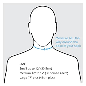Amazon back neck brace a revolutionary cervical collar that using a flexible tape measure measure all the way around the base of your neck ccuart Image collections