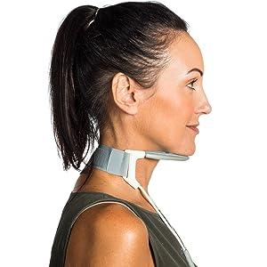 neck brace support collar cervical posture head forward back sitting standing spine