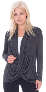 Criss Cross Cardian Long Sleeve Plus Size Made In USA
