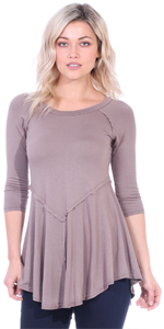 3/4 Sleeve Tunic Wear With Leggings Made In USA