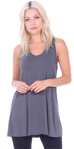 Loose Fit Tunic Tank Sleeveless Plus Size Made In USA