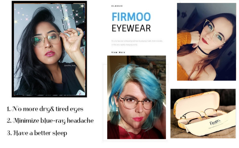 dd05df2c4f Light tint lenses anti glare anti UV sleep better reduce blue-ray headache  glasses