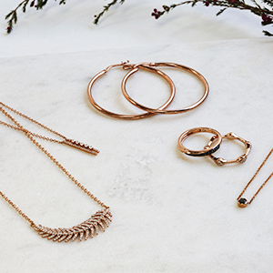 gold jewelry, gold earrings, gold necklaces, gold rings, rose gold, solid gold, fine jewelry
