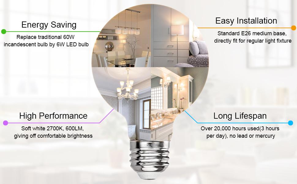 g25 led filament bulb