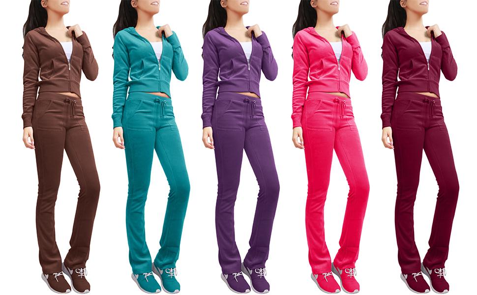 Amazon Com Ne People Womens Casual Basic Velour Zip Up Hoodie
