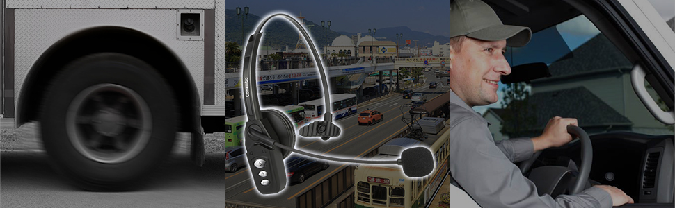 bluetooth headset for truck drivers