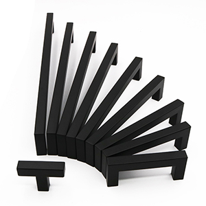 cabinet handles black square
