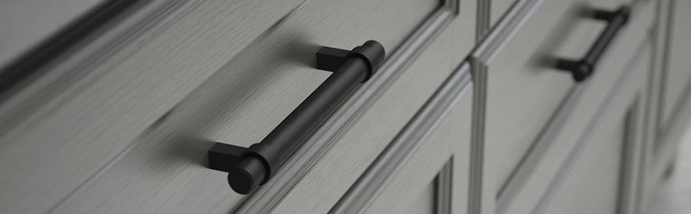 cabinet handles matte black for kitchen and bathroom