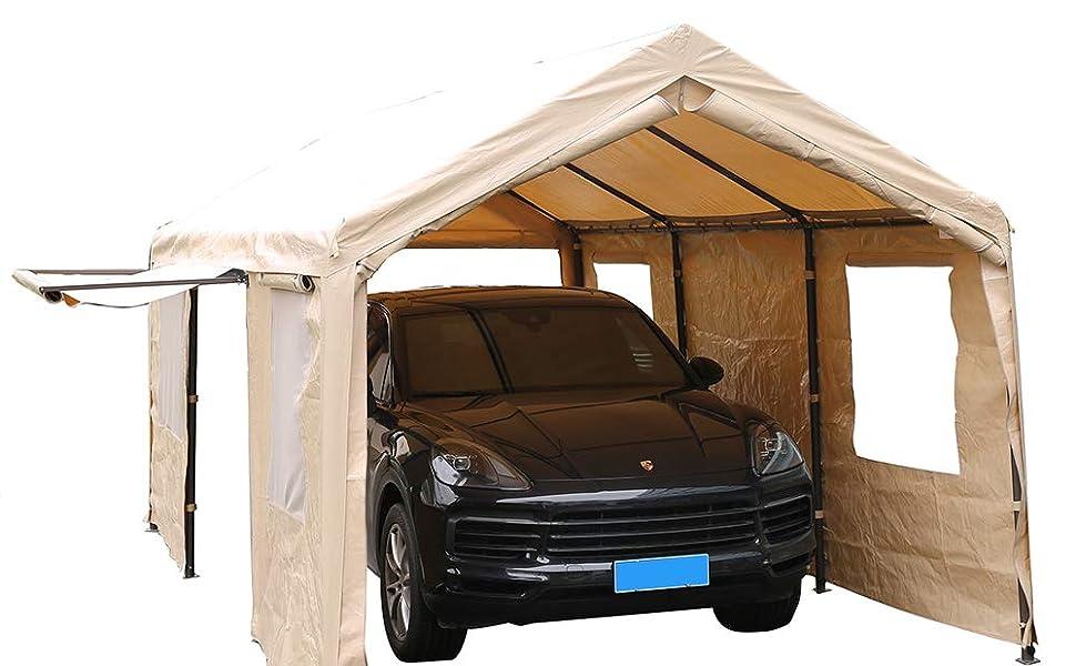 Amazon.com: SORARA Carport - Toldo para garaje de 10 x 20 ...