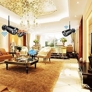 wireless home security surveillance camera system