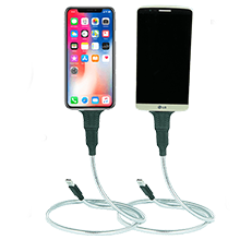 android metal charger cable . iphone desk mount . phone bed stand . metal usb cord