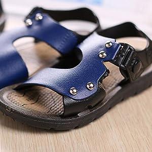 PPXID Boys Open Toe Rivet Buckle Outdoor Casual Sandbeach Sandals