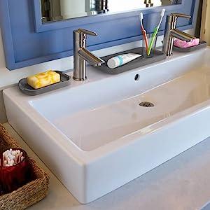 sink organizer silicone tray sponge holder kitchen organization storage