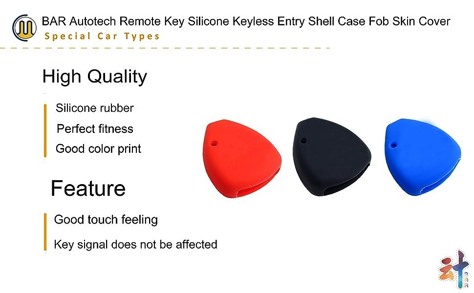 Remote Silicone Keyless Fob Key Cover for TOYOTA Camry Avalon Matrix Corolla TOYOTA Land Cruiser