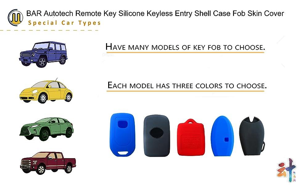 Remote Key Rubber Keyless Entry Case Fob Skin Cover for Honda Civic Accord CR-V Pilot 2015 2016 2017