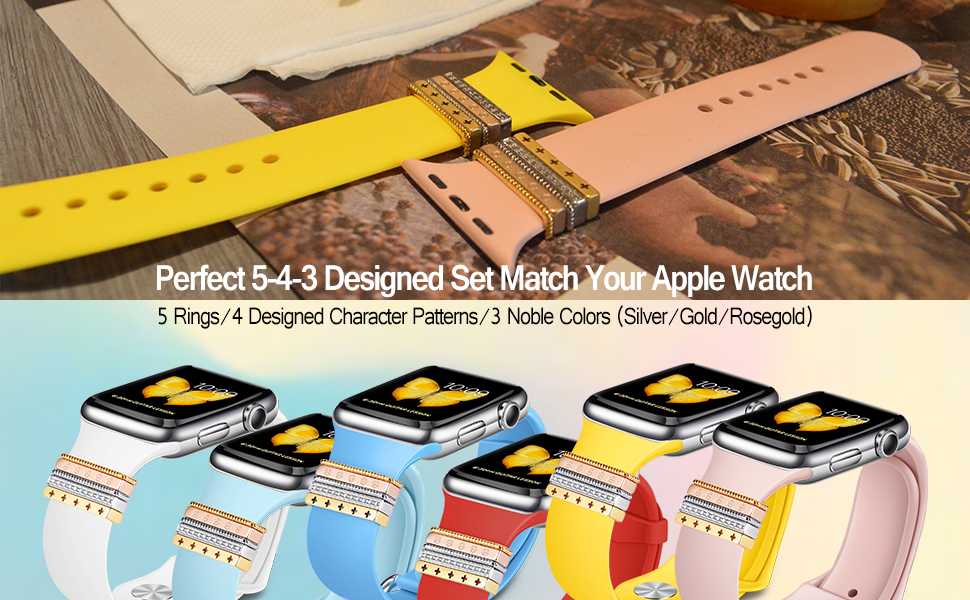 Apple Watch Band Decorative Rings